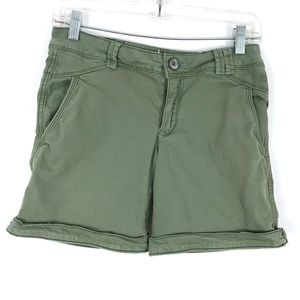 Anthropologie Hei Hei cargo olive shorts long